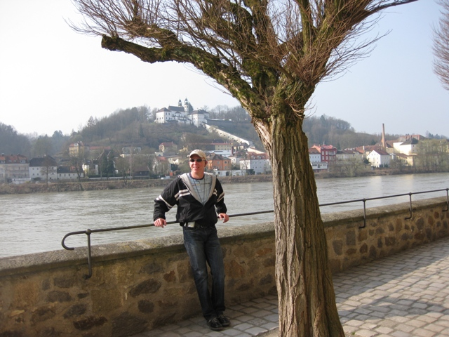 Tom on the Danube River in Passau, Germany