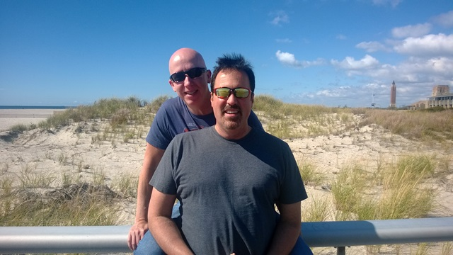 Tom and Todd at Jones Beach