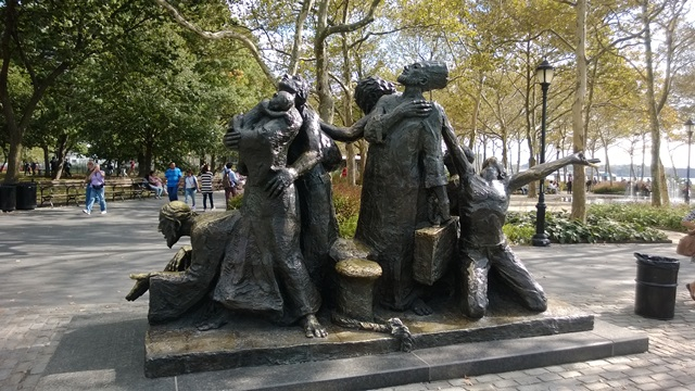 Battery Park The Immigrants sculpture